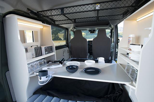 画像1: 新作キャビネットと直流家シリーズの車中泊グッズで、快適な車内環境ができあがる!