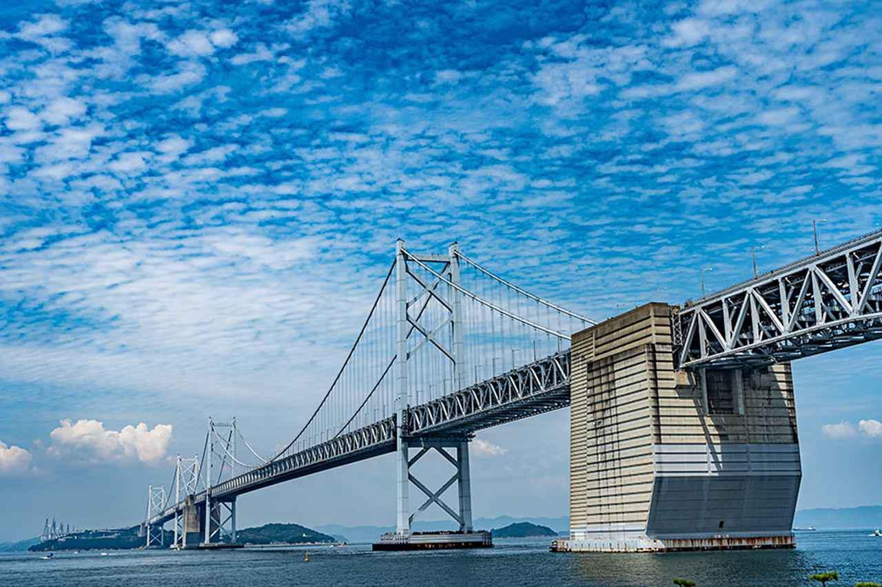 画像: 瀬戸大橋記念公園は絶景なり! 岡山県と香川県を結ぶ海橋・瀬戸大橋は完成当時、世界最大の吊り橋としてギネスにも登録。そのふもとにある瀬戸大橋記念公園は、大橋の大きさが分かるエリアとなっている。