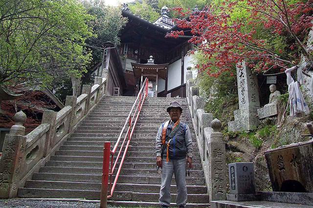 画像: 71番札所 弥谷寺。弘法大使が学問を学び、修行をしたとされる岩窟がある。