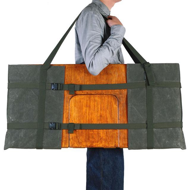 画像2: 幅60~90cmのサイズ調整が可能なギアバッグ 「アジャスタブルテーブルキャリー」