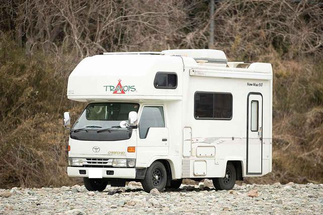 画像: 愛車はアネックス社のキャンピングカー「ニューマックス5.0」(平成9年型)。