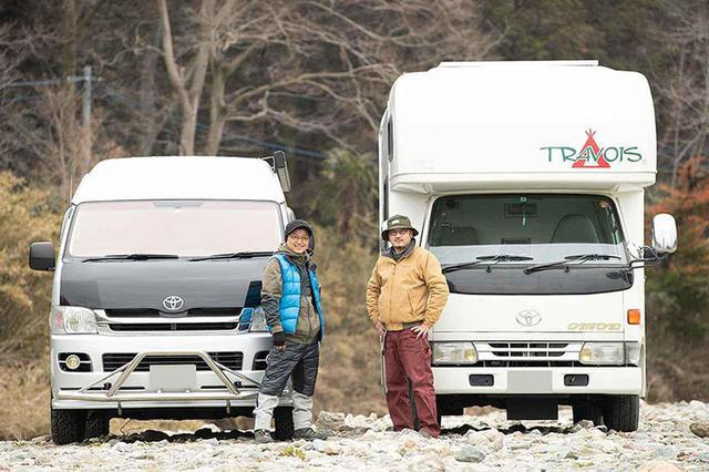 画像: 車中泊キャンプの達人! 21年落ちのキャンピングカーとワンポールテントで楽しむ!