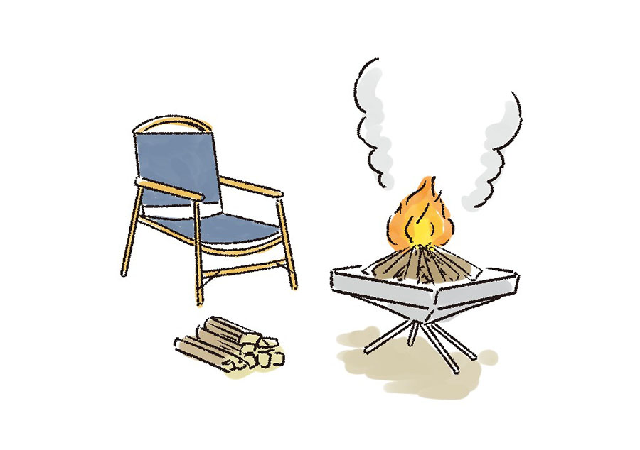 画像: キャンプ場の多くが、焚き火台を使用するならOK