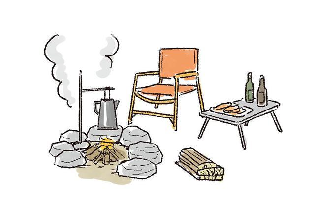 画像: 直焚き火できるキャンプ場は限られている