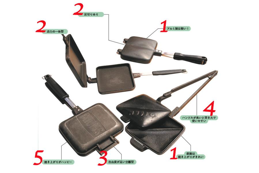 画像: ホットサンドメーカーの特徴