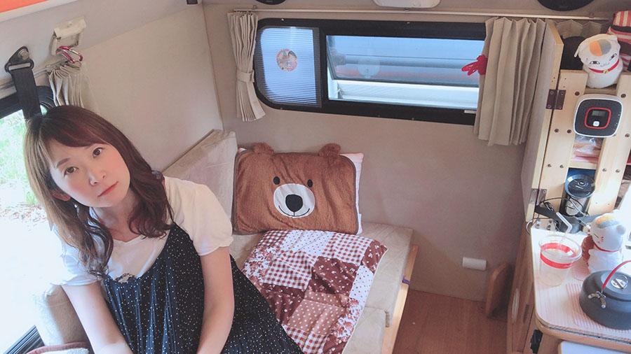 画像: 軽キャンピングカー「テントむし」で北海道をタフに遊ぶ車中泊女子!