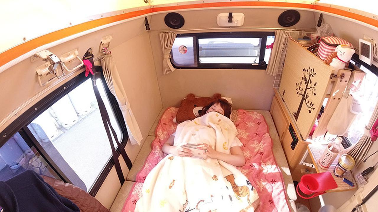 画像1: ソファベッド+毛布 or 寝袋