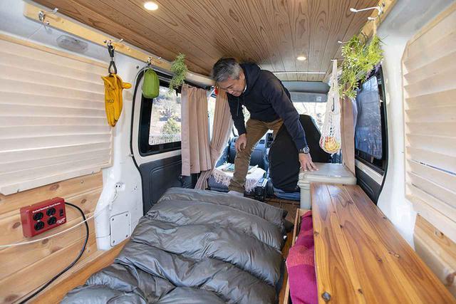 画像3: カフェ杉に登山用マット+寝袋