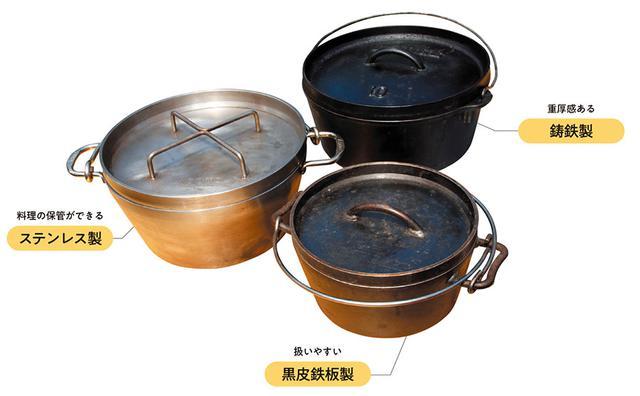 画像: ダッチオーブンの素材は?