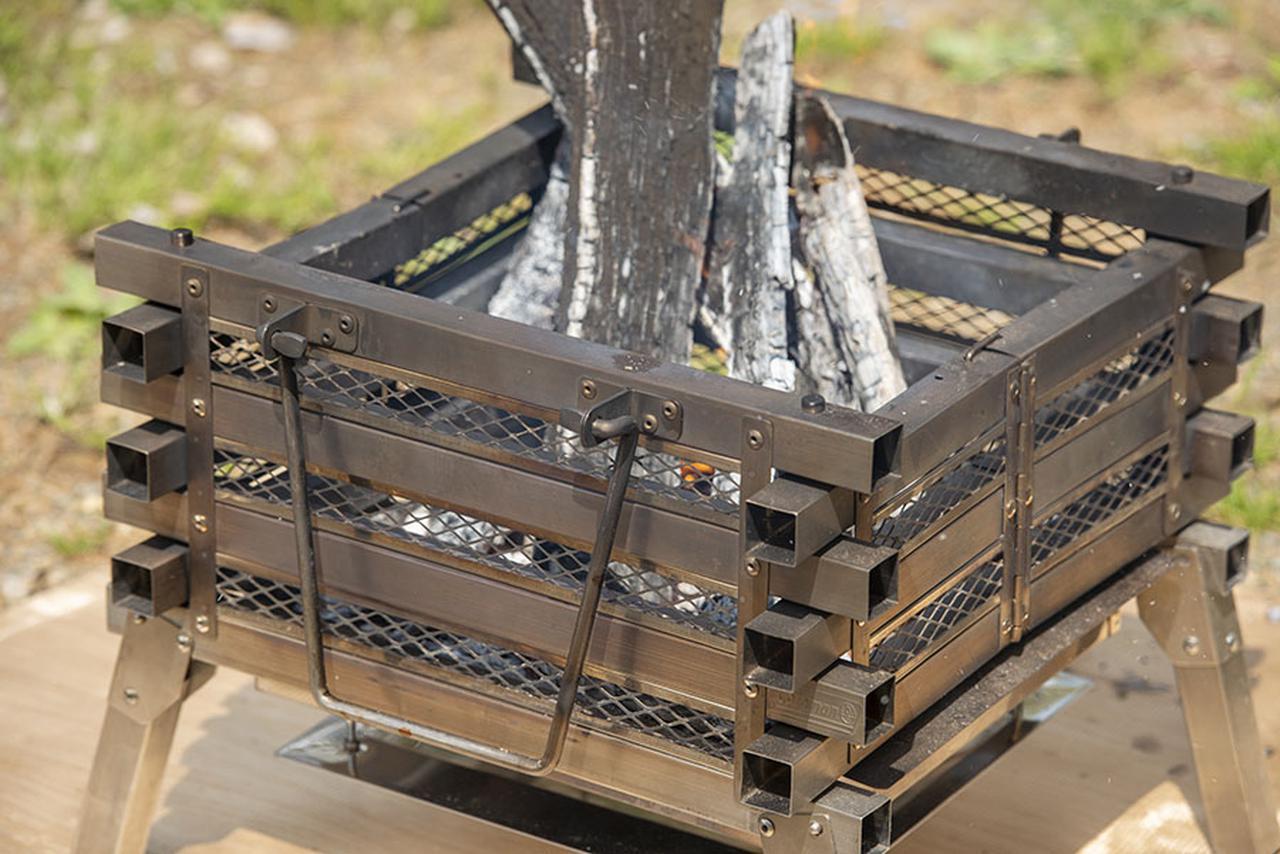 画像: ポイント1 井桁型のデザインは燃焼効率が抜群