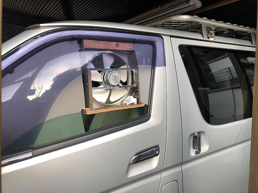 画像2: 家庭用換気扇をDIY! 車内の空気を流す
