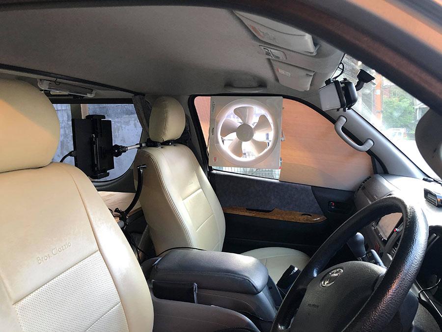 画像3: 家庭用換気扇をDIY! 車内の空気を流す