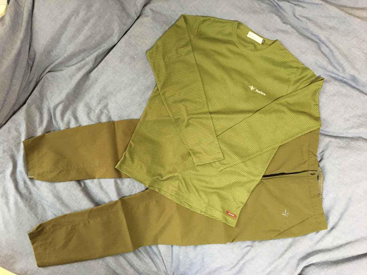 画像: フォックスファイヤーのスコーロン素材のシャツ&パンツ