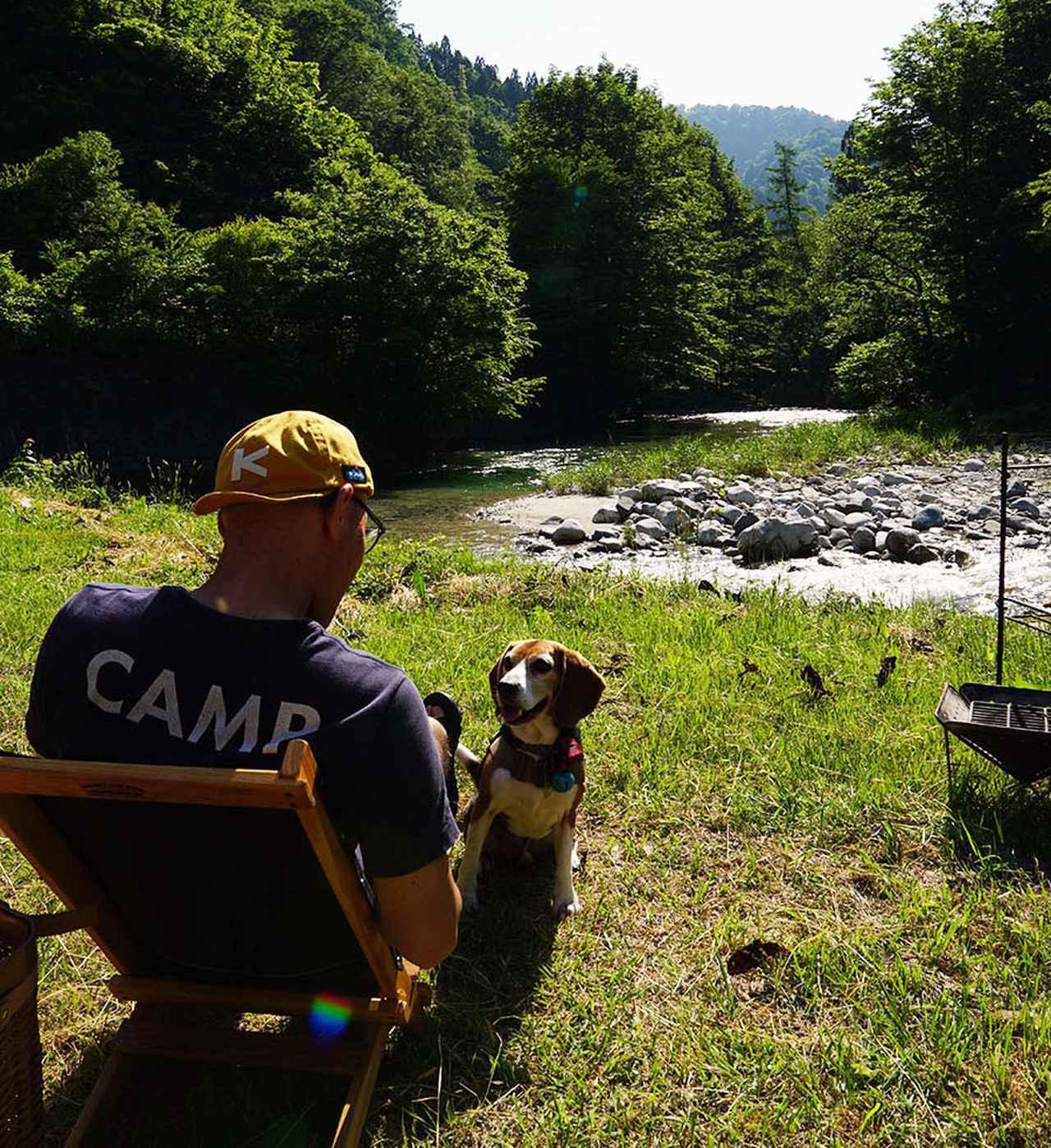 画像: Instagram @elvis_works さん 秋田県とその近県のキャンプ場によく出没しているというelvis_worksさん。暑い夏の季節のキャンプは、愛犬と海、川、湖で水遊びを楽しんでいる。キャンプ歴約25年のベテランキャンパーだ。
