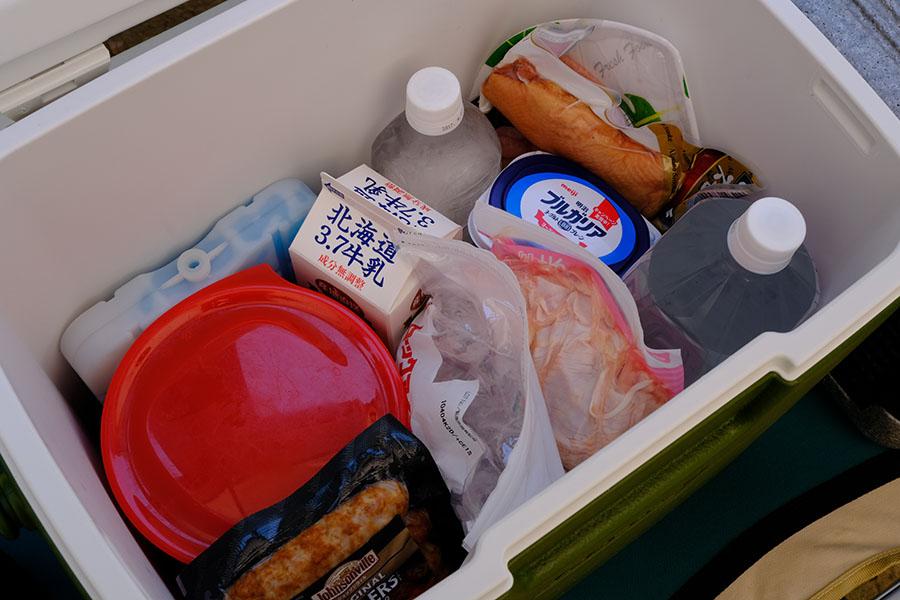 画像: ②保冷能力の高いハードクーラー→肉、魚、乳製品