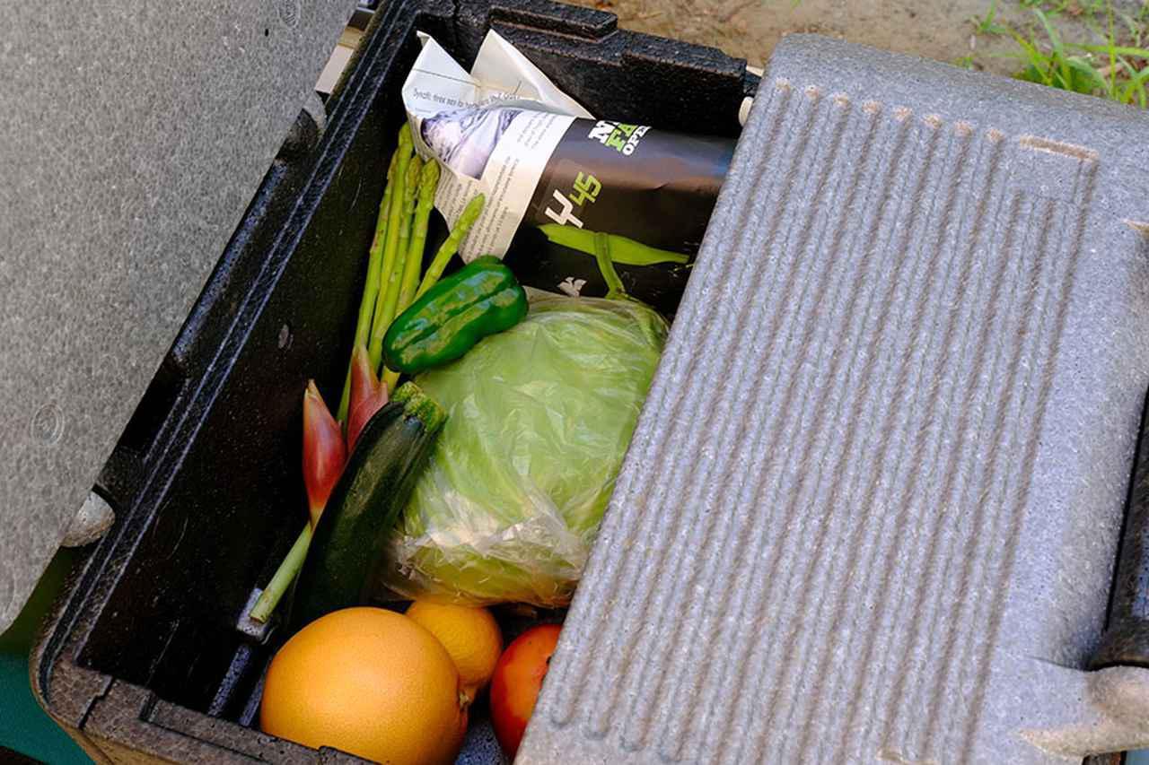 画像: ③発泡スチロール箱など→野菜