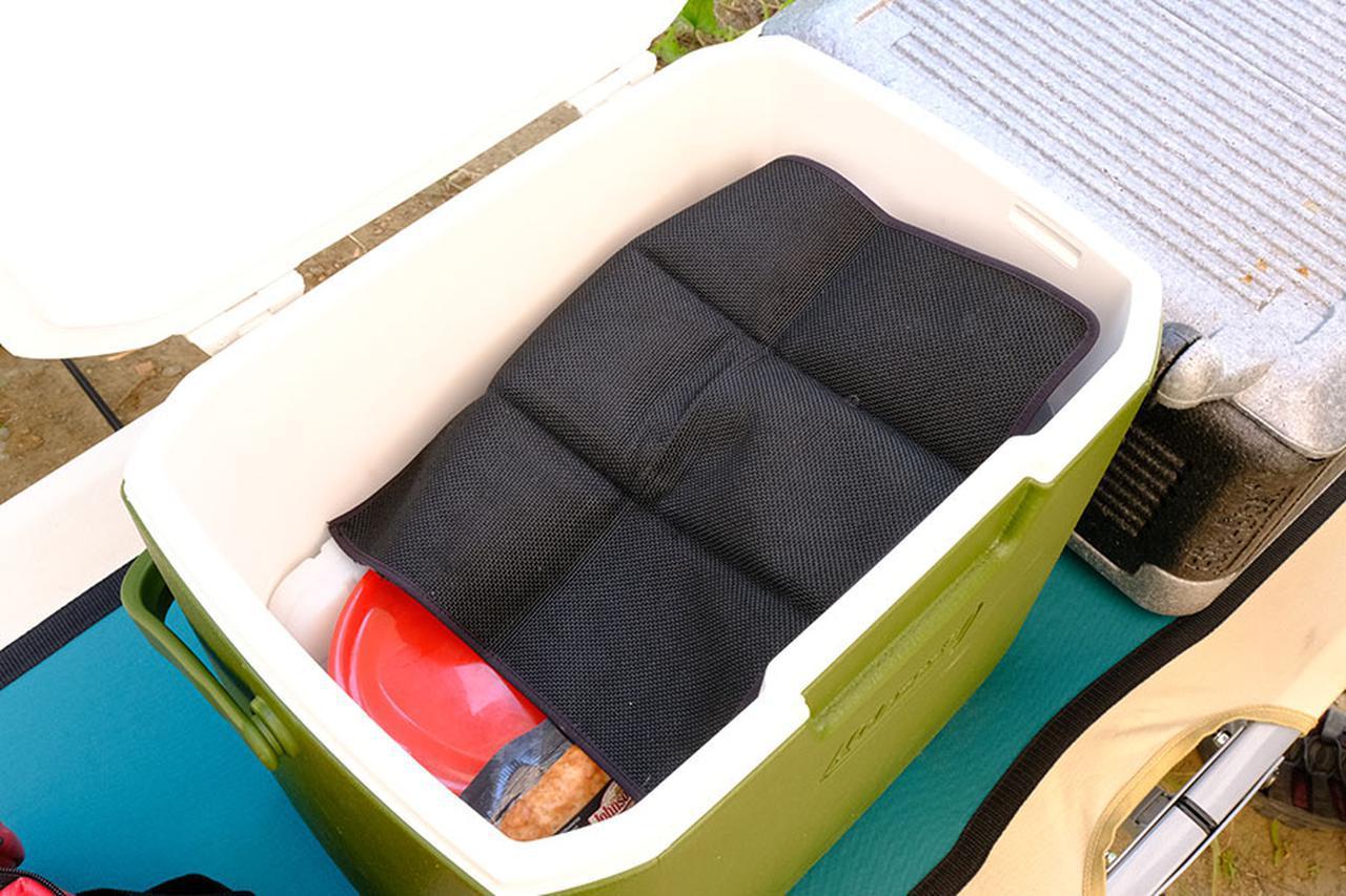 画像: シートを載せて冷気をキープ