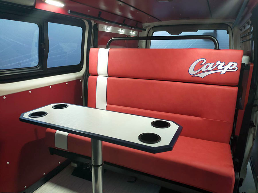 画像5: 広島東洋カープ承認! 世界で2台のキャンピングカー