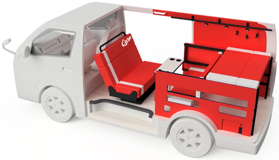 画像: ホビクル・カープ仕様車のデザイン透視図。実車は少し変更。