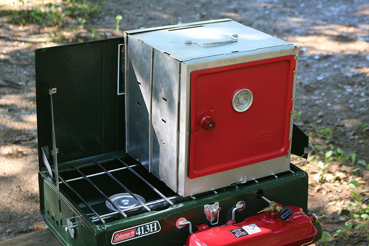 画像: ネジ不要で簡単に組み立て・撤収ができるオーブン。413Hパワーハウスツーバーナーストーブ(2万8800円)とともに末永く使いたい。7480円