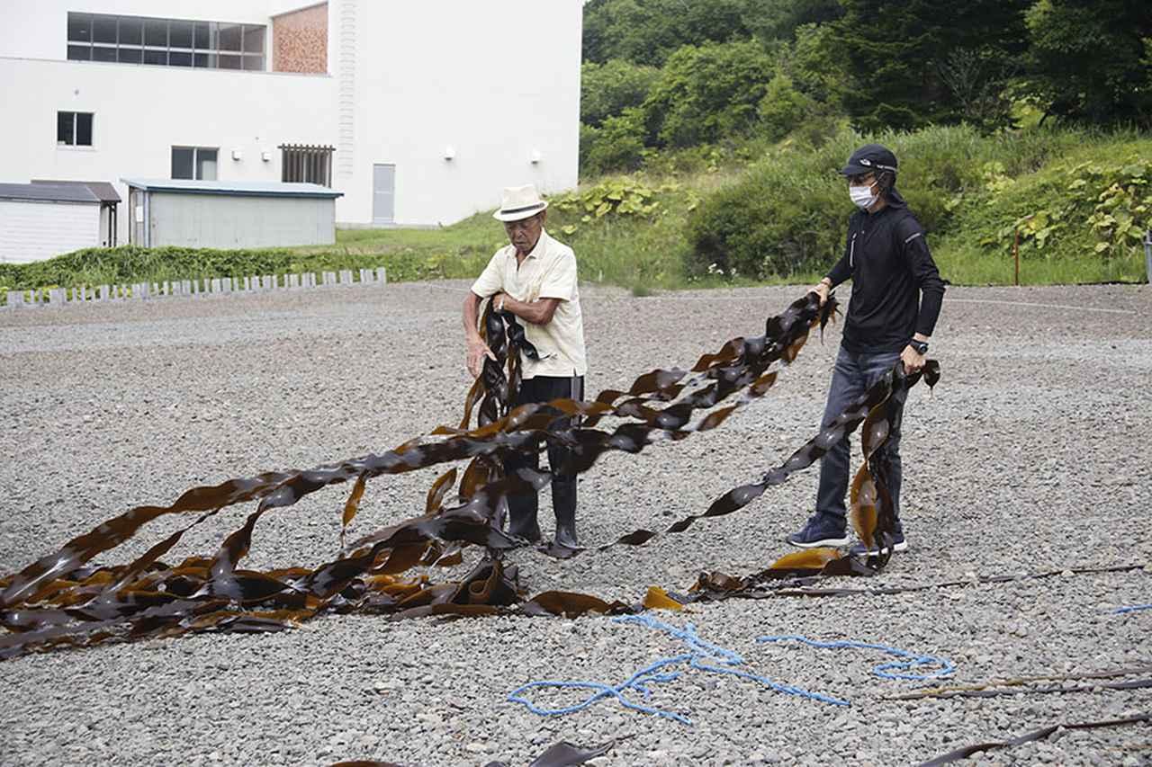 画像1: ツアー1日目 昆布森で昆布干しを手伝って地元の海産物に舌鼓!