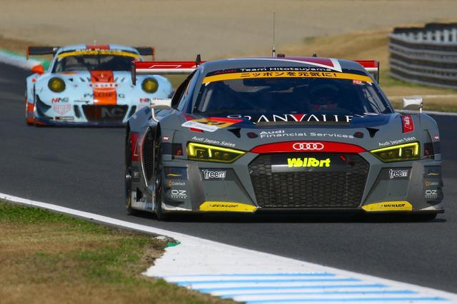 画像1: 【SUPER GT Rd.8 Motegi】Hitotsuyama Audi R8 LMSはポイント獲得にわずかに及ばず