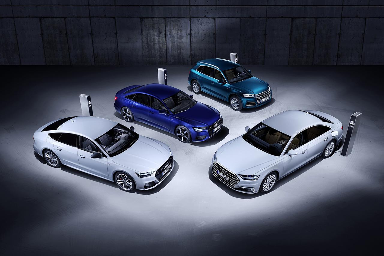 画像1: Audiがジュネーブショーでプラグインハイブリッド4モデルを発表