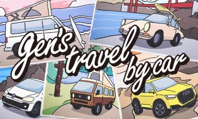 画像: * gen's travel by car キャンバス・ジグレー 【受注生産商品】