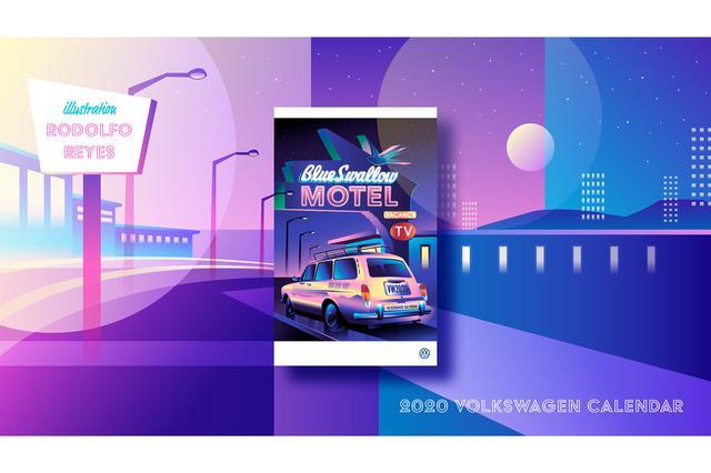 画像1: 2020年VW壁掛けカレンダープレゼント