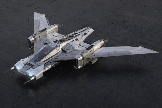 画像1: ポルシェとルーカスフィルムがコラボ  「トライウィング S-91x ペガサス スターファイター」誕生