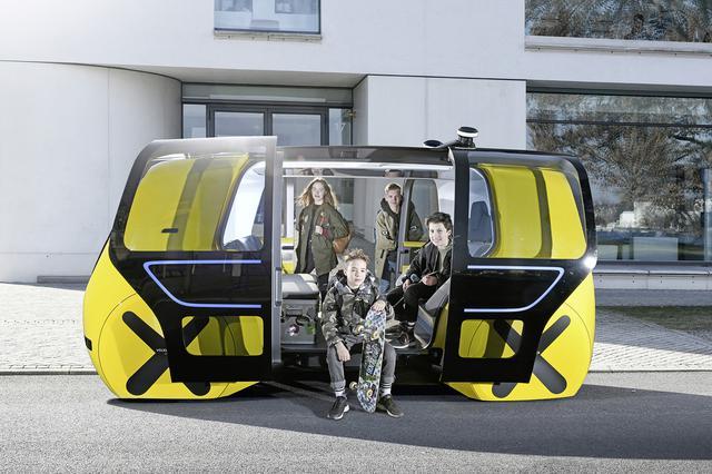 画像: VWが2018年に公開した自動運転車「セドリック」スクールバス仕様。