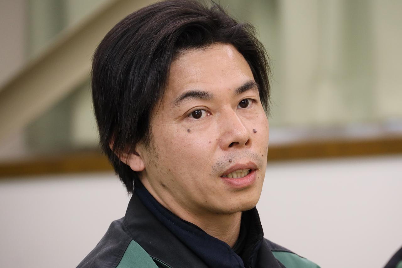 画像: 新城工場技術1課長の亀田慶寛さん