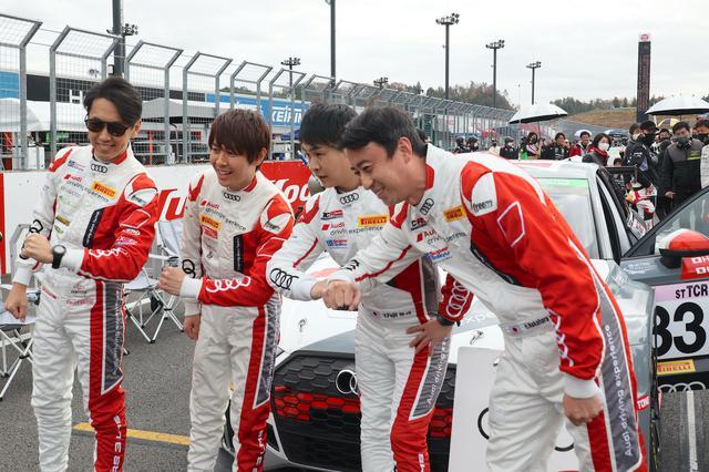 画像: 左から柳田真孝選手、富田竜一郎選手、藤井優紀選手、中原英貴選手。