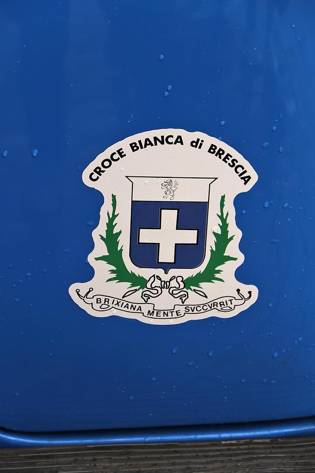 画像: ブレシア白十字会の紋章。
