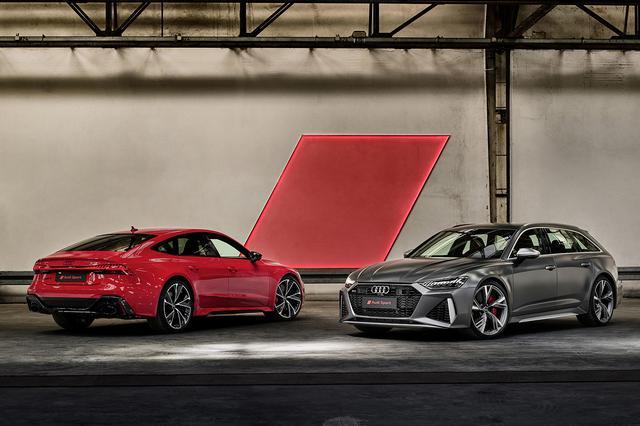 画像: Audi RS 7 Sportback(左)とAudi RS 6 Avant(右)