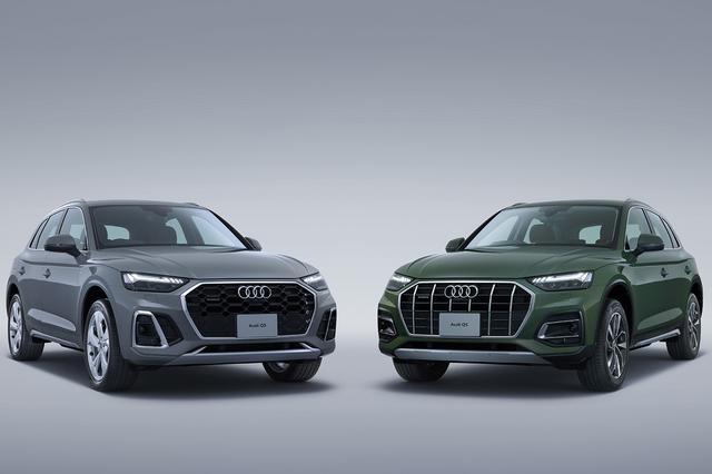 画像: Audi Q5 S line(写真左)とAudi Q5 advanced(写真右)