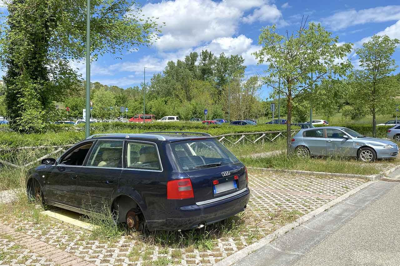 画像: Audi A6 Avant。筆者が記憶しているだけでも、すでに2021年春からこの状態だ。