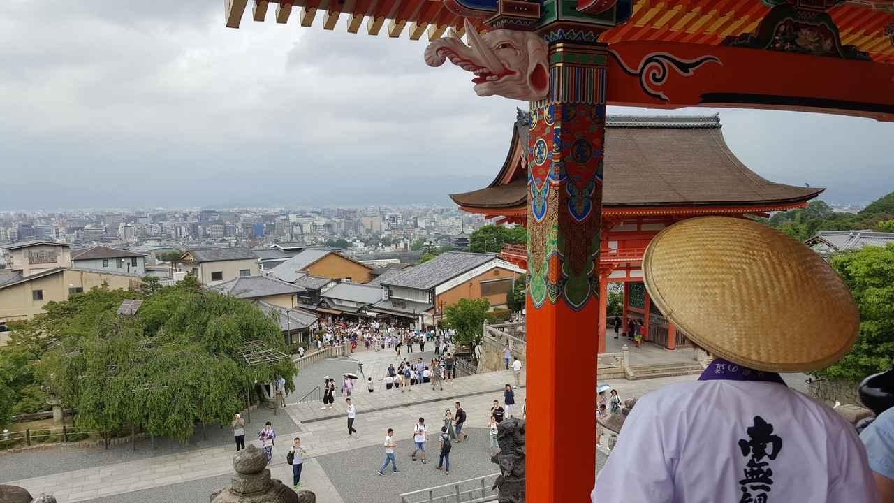 画像: 番組でもご紹介した「西門」からは、京都の市街地を一望! 普段は入れない場所に入れていただき感動♪