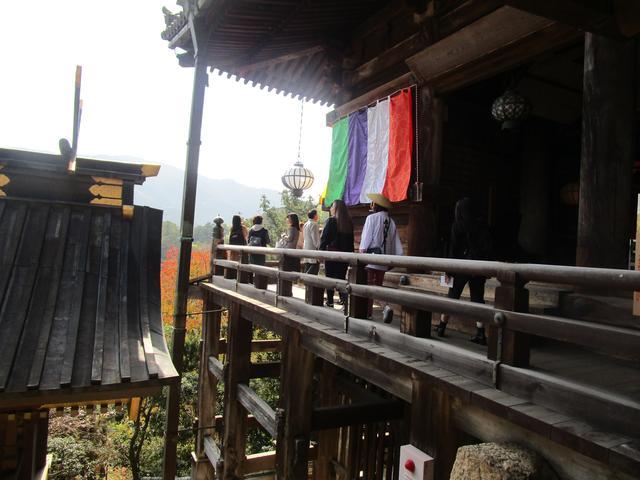 画像: 初瀬山中腹の断崖絶壁に立つ、舞台造りの本堂