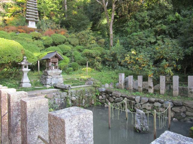 画像: 実は岡寺は通称で、正式名称は龍蓋寺。龍蓋寺の由来ともなっている悪龍を閉じ込めたと言われている龍蓋池がコチラ。