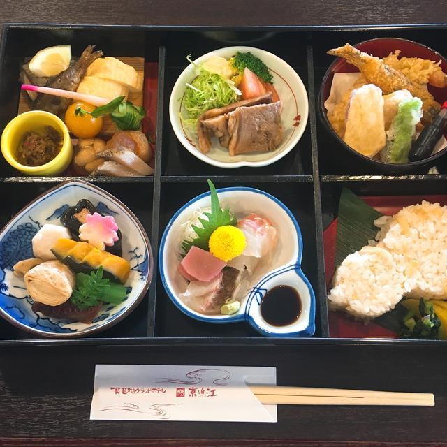 画像: 11時半頃、琵琶湖グランドホテルにて昼食。旬食材満載の贅沢なご飯をいただきました