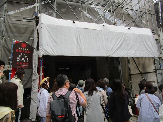 画像: 西国三十三所の札所にあたる観音堂。現在修復工事中で本来は拝見はできないのですが、この日は特別に中を見せていただきました