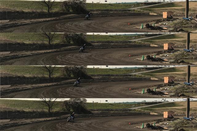 画像1: リアタイヤがフロントタイヤを追い越します。マジで。