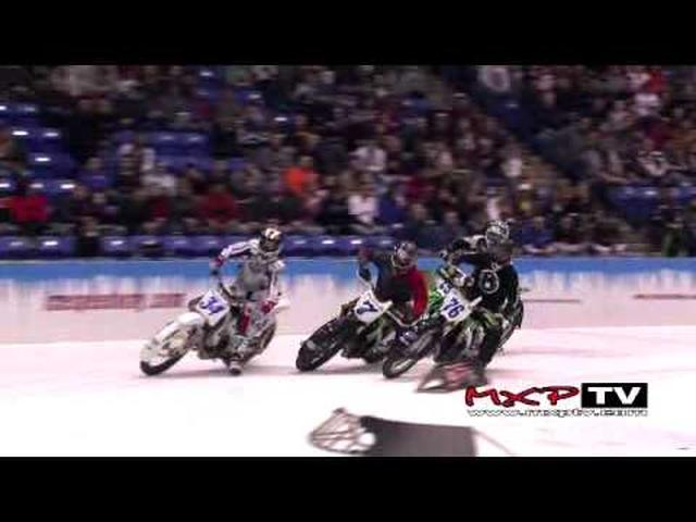 画像: ICE - World Championship Ice Racing - Bloomington, IL youtu.be