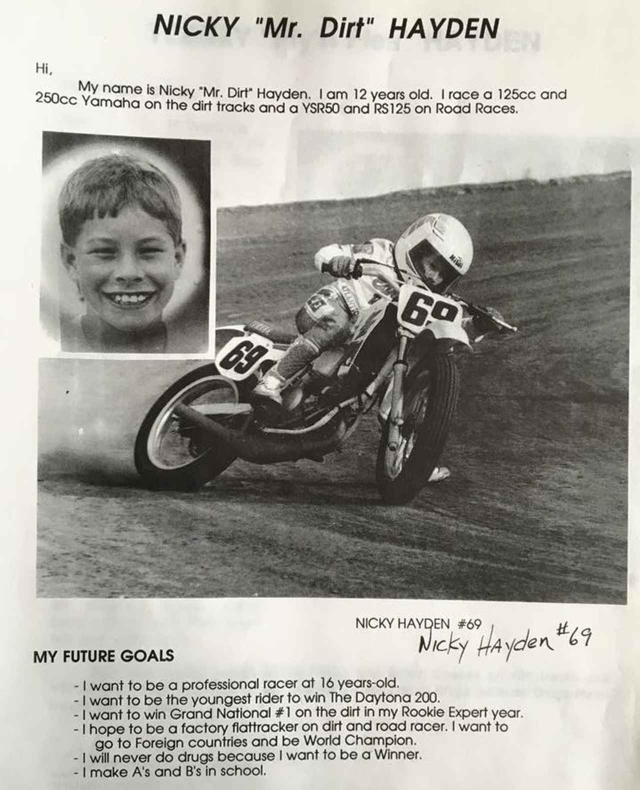 """画像: ニコラス12歳の覚え書き。彼の """"未来の目標"""" の多くは有言実行で現実のものとなった。"""