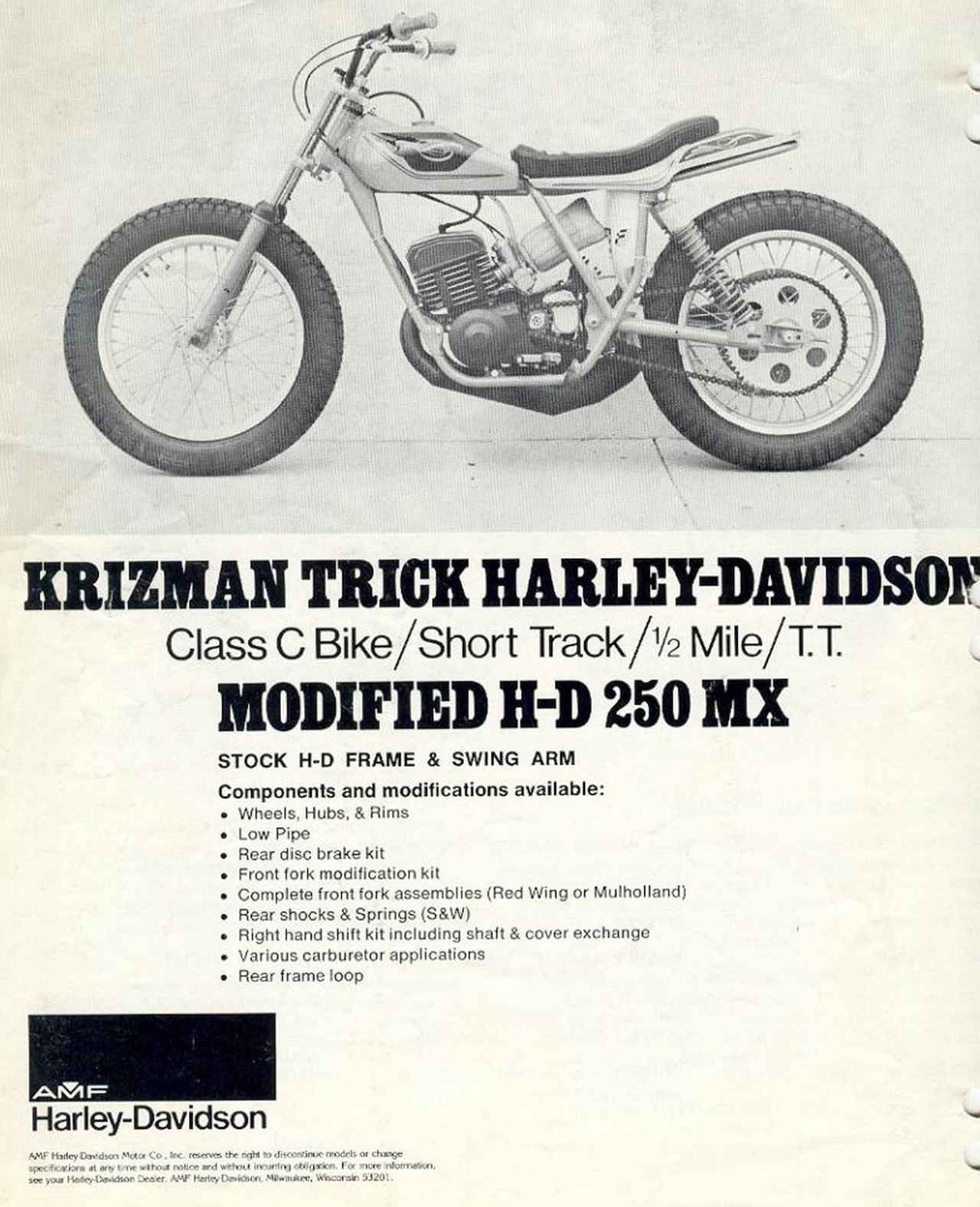 Images : 2番目の画像 - Aermacchi Harley Davidson MX250 - LAWRENCE - Motorcycle x Cars + α = Your Life.