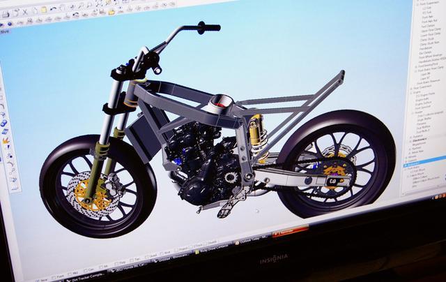画像: ハワートンモータースポーツの手でCAD(Computer Aided Design)によって全体像が設計される過程。 stusshots.blogspot.com