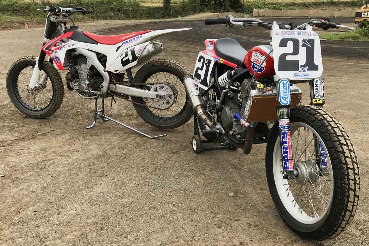 """画像: [Flat Track Friday!!] どちらがお好き? """"フレーマー"""" vs """"DTX""""!本格的ダートトラックレーシングマシン、その2つのかたち。 - LAWRENCE - Motorcycle x Cars + α = Your Life."""
