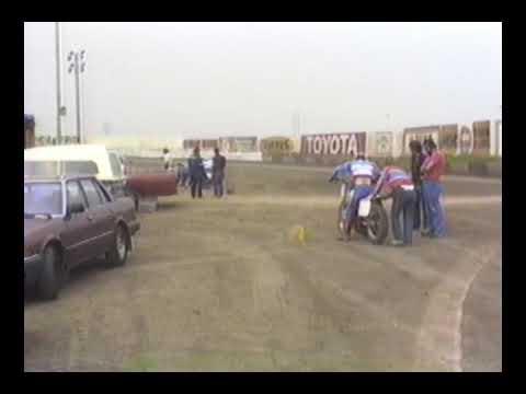 "画像: American HONDA factory flattrack team's private test 1: Ascot Park ""shorttrack"" 1983 youtu.be"