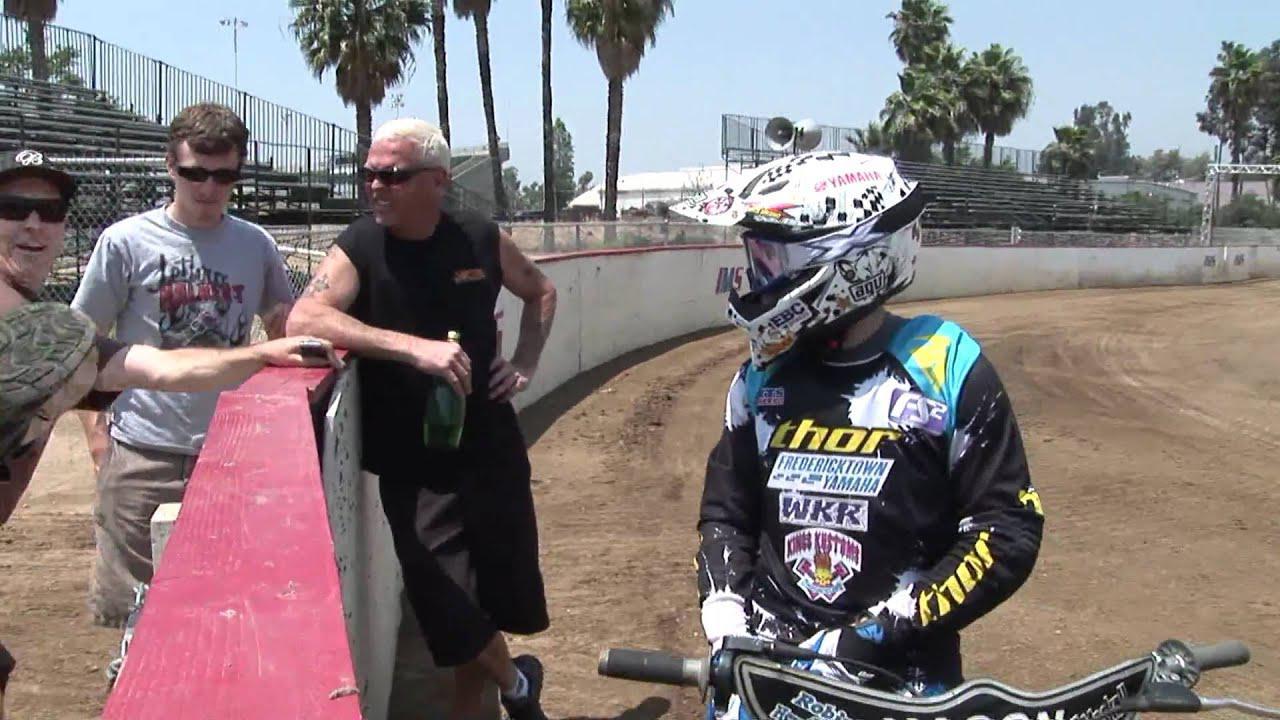 画像: Sammy Halbert Rides A Speedway Bike youtu.be